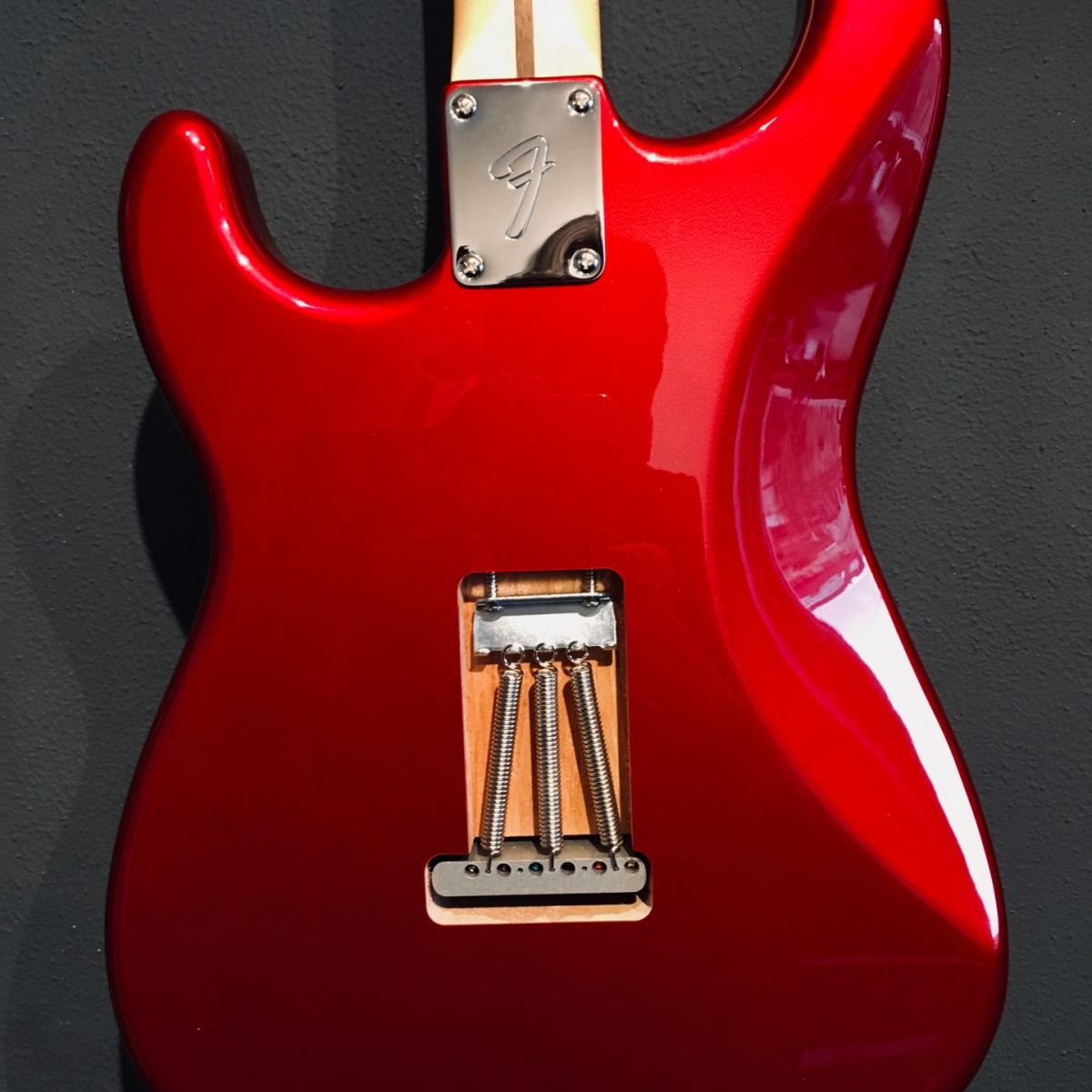 Fender Red Strat Back by Corebeth Guitars